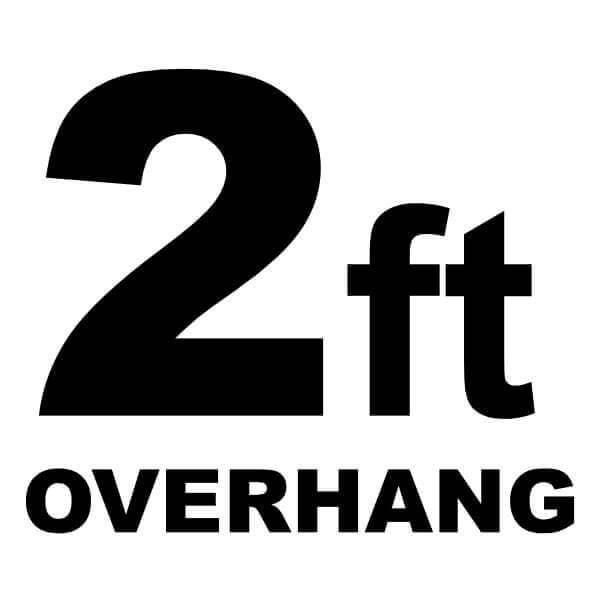 2-ft Overhang Basketball Court Floor