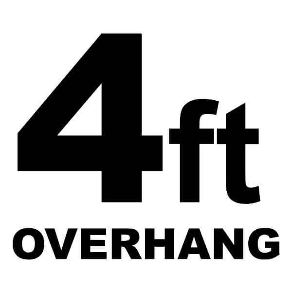 4-ft Overhang Basketball Court Floor