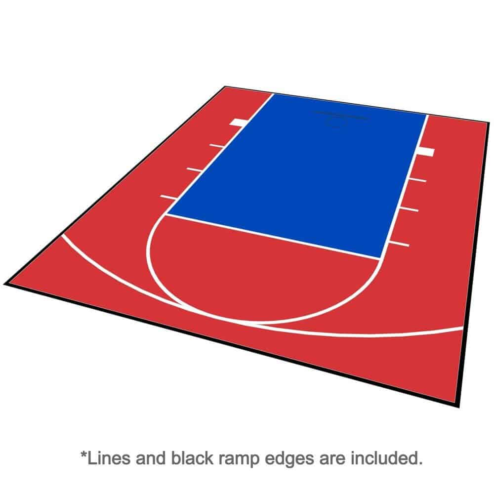 Backyard Basketball Court Flooring 20x24 Red Blue