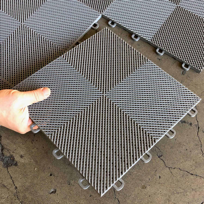 Perforated Garage Floor Tiles Diy Interlocking System