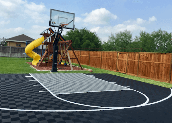 Outdoor Basketball Court Floor Tiles ModuTile Sports