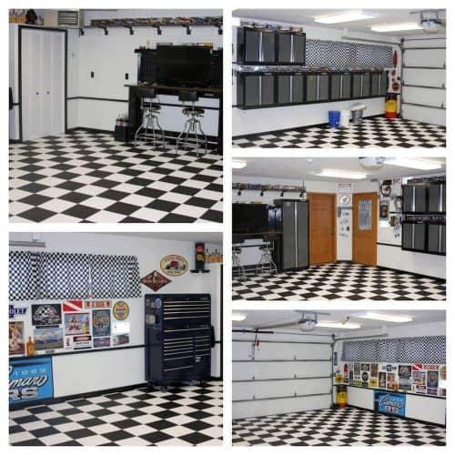 Black and White Garage Flooring - 5 in 1
