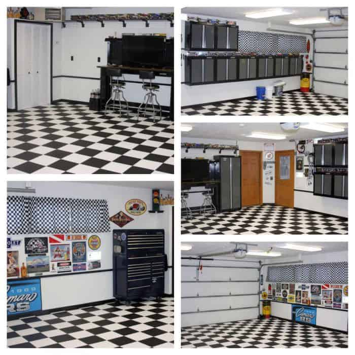 Black and White Garage Flooring - 5 in 1