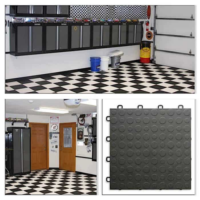Coin Top Garage Floor Tiles Interlocking Flooring By Modutile