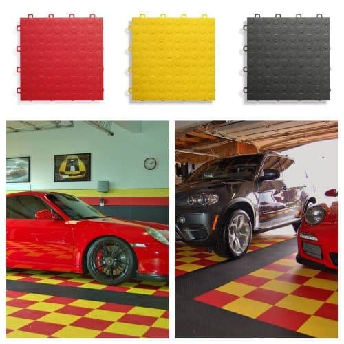 Coin Top Garage Floor Tiles - Porsche-BMW