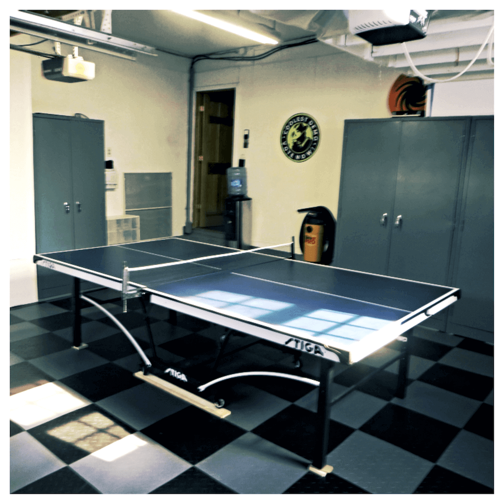 Garage Converstion - ping pong - Interlocking PVC Floor Tiles