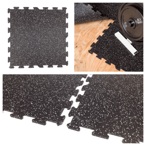 Interlocking Rubber Floor Tiles - Home Gym Flooring-c
