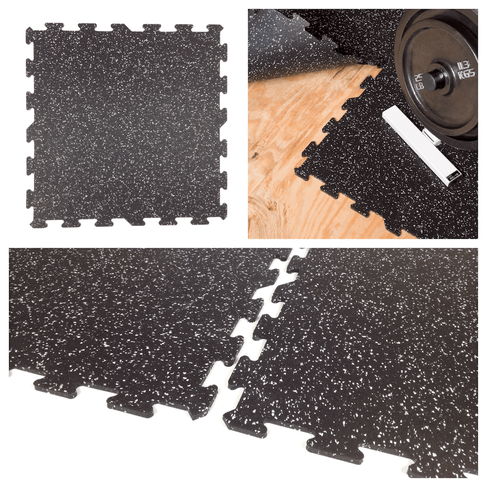 Interlocking Rubber Floor Tiles, 23″x23″ (8mm