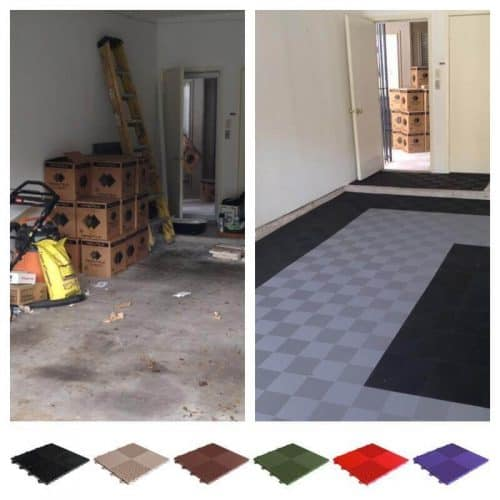 Perforated Garage Floor Tiles - 12x12-inch