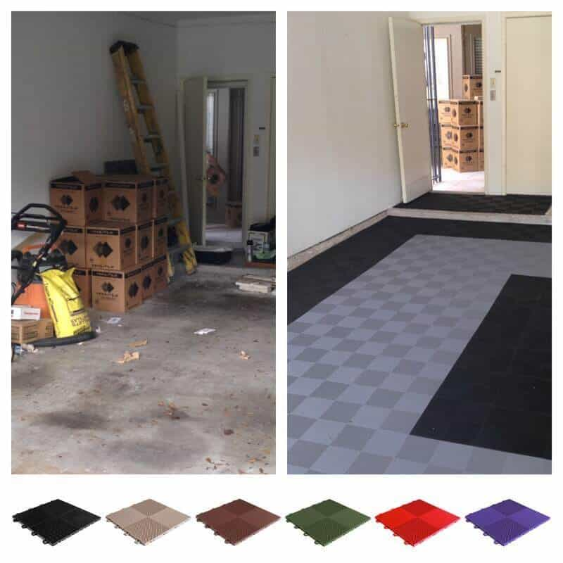 Perforated Garage Floor Tiles Diy Interlocking System Mesh Drain