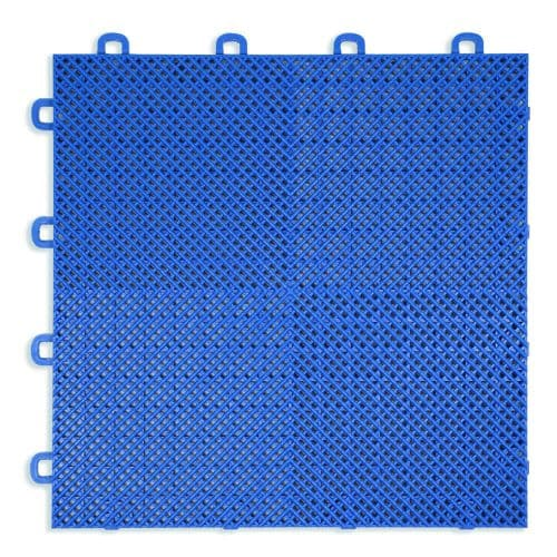 Perforated Modula Floor Tile - Blue - T2US45