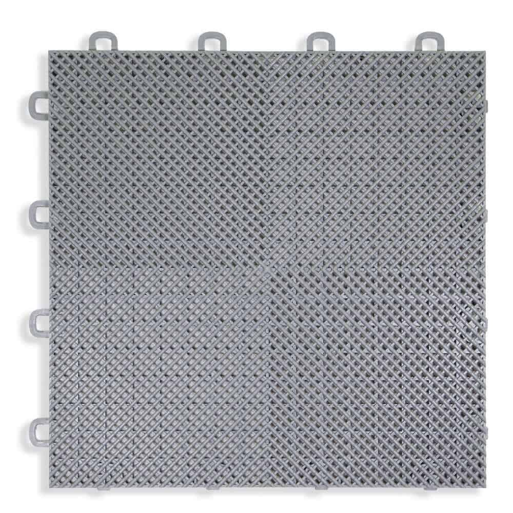Perforated Modular Floor Tile - gray - T2US46