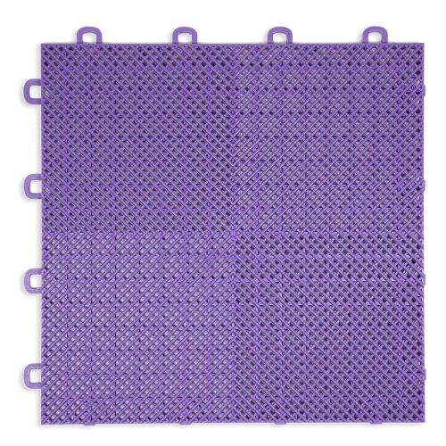 Perforated Modula Floor Tile - Purple - T2US61