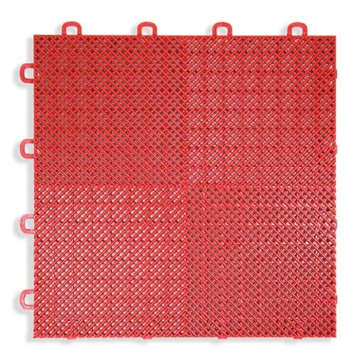 Perforated Modula Floor Tile - Red - T2US43