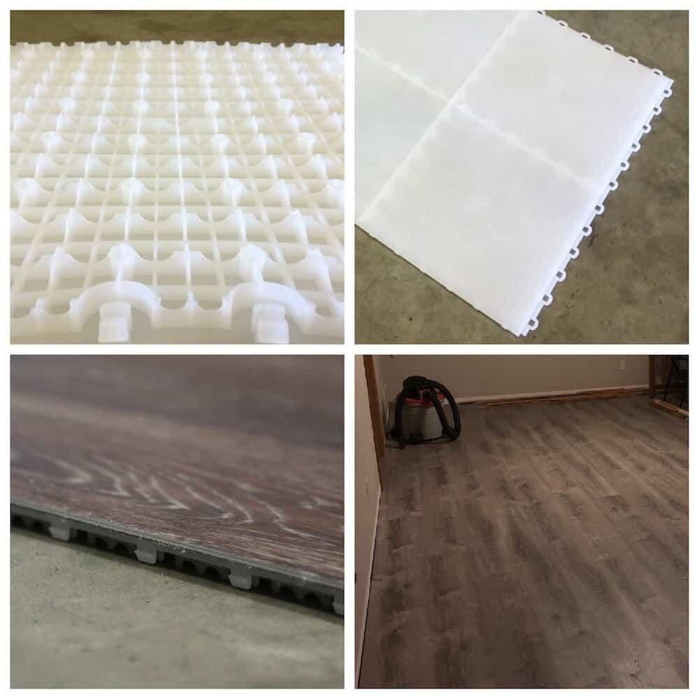 Basement Subfloor Interlocking Tiles