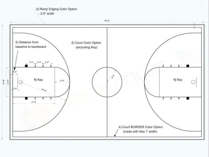 46x78 Full Court Basketball - plan /drawing