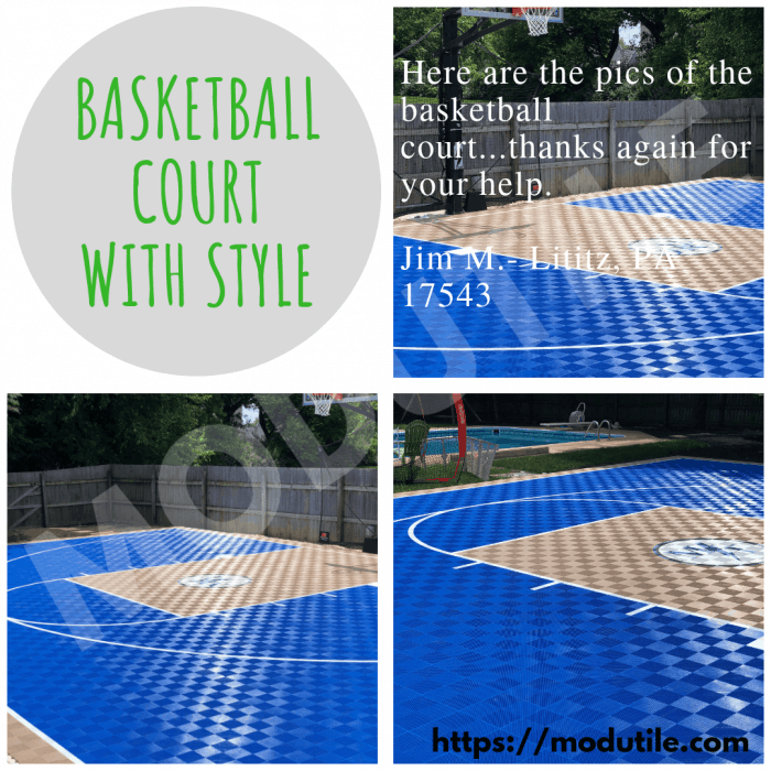 Basketball Court With Logo