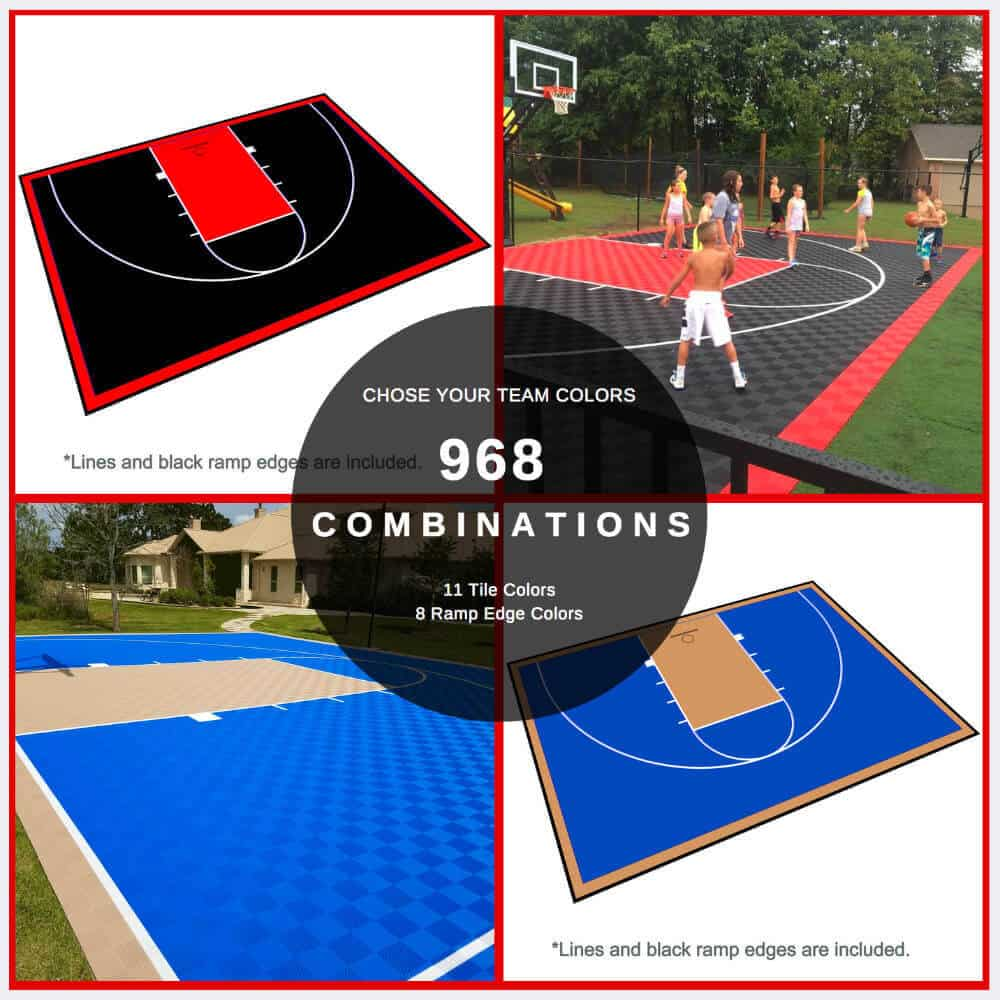 Half Court Basketball Floor 46x30 Kit