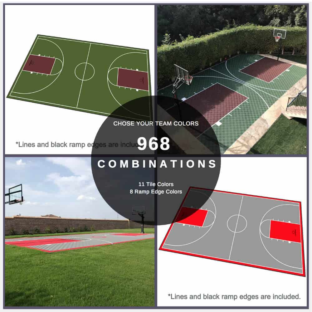 Backyard Basketball Court 46x78 Design Before After pictures
