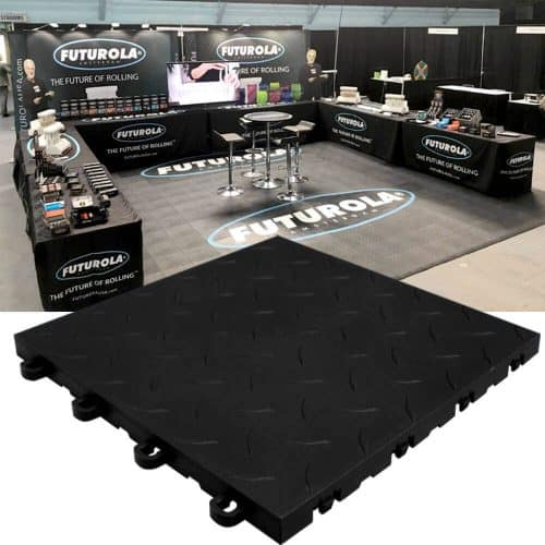 Diamond Top Interlocking Trade Show Tiles