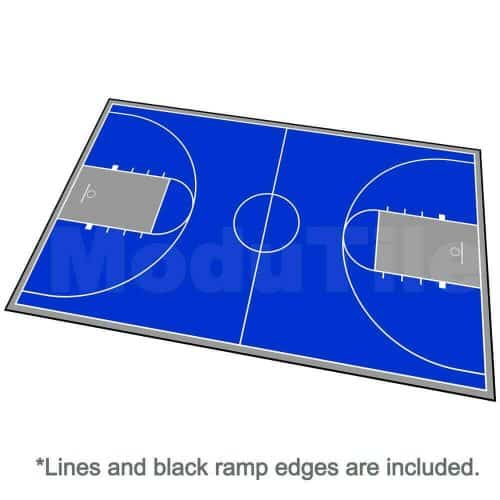 Full Court Basketball Floor, Sport 78x46 Kit