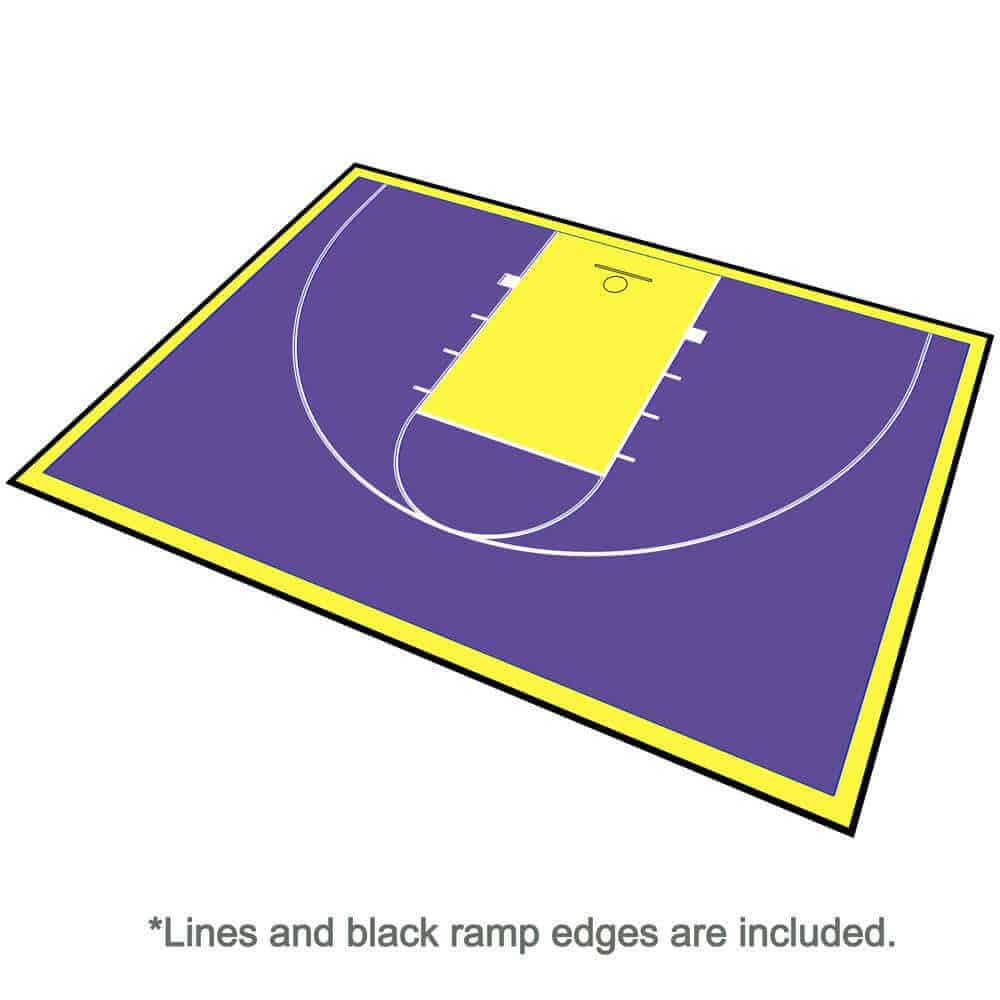 Half Court Outdoor Basketball Floor, 46x30 Kit