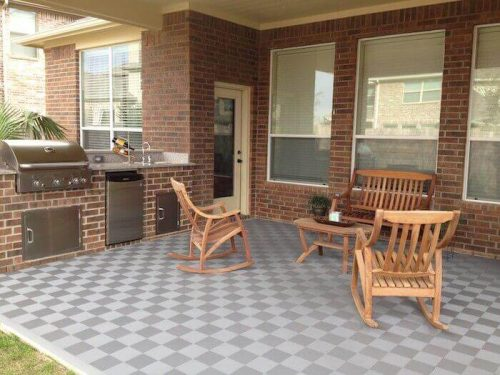 Outdoor Patio Flooring - Gray