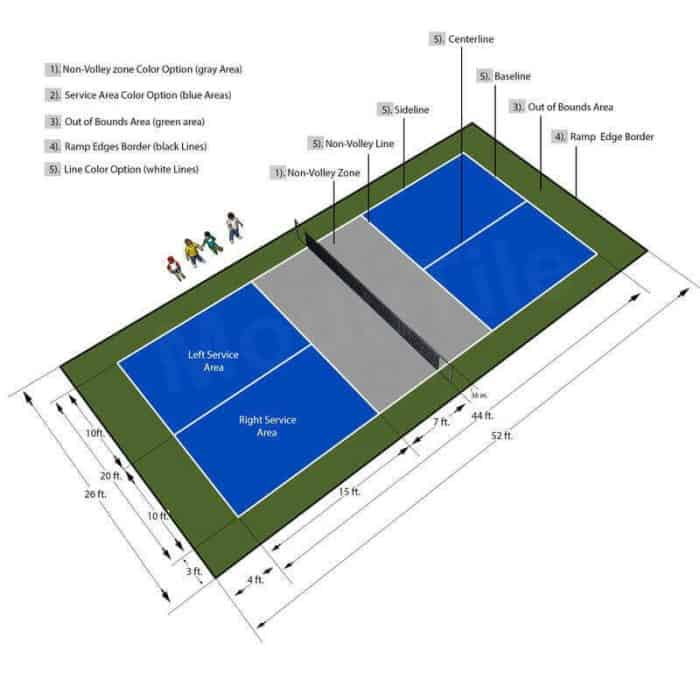 Pickleball Court Flooring - Outdoor