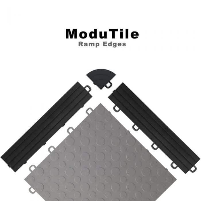 Ramp Edges and Corner for Interlocking Floor Tiles