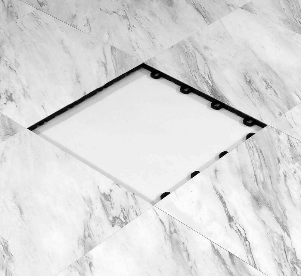 White Marble Modular Interlocking Floor Tile