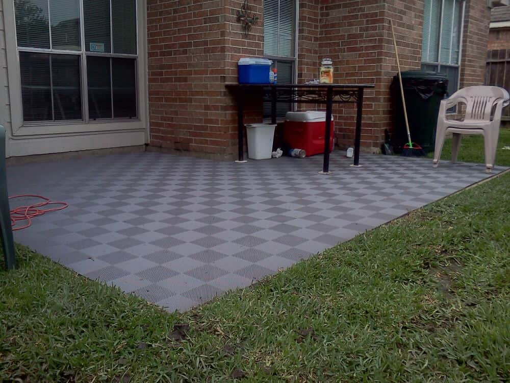 backyard deck patio floor tile gray ModuTile