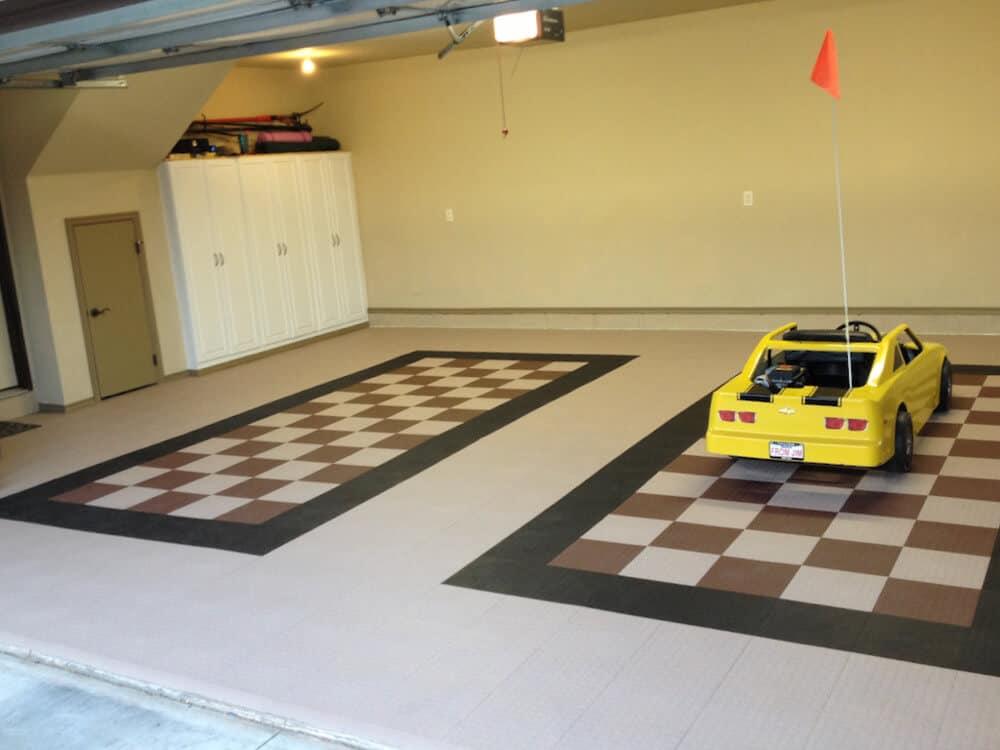 Coin Toop Garage Floor Tile Beige Brown ModuTile