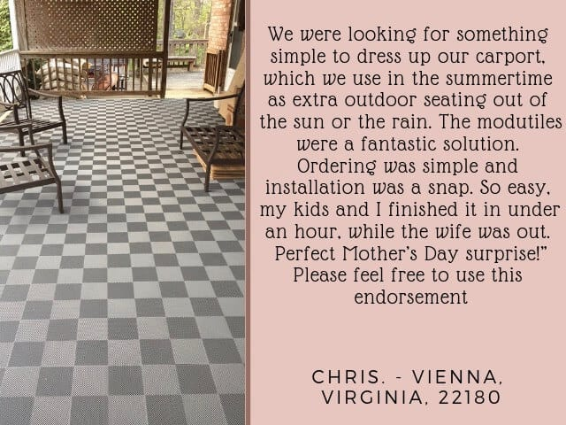 deck and patio floor tiles gray perforated