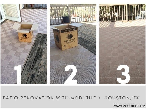 Deck Floor Tile - Beige Perforated ModuTile
