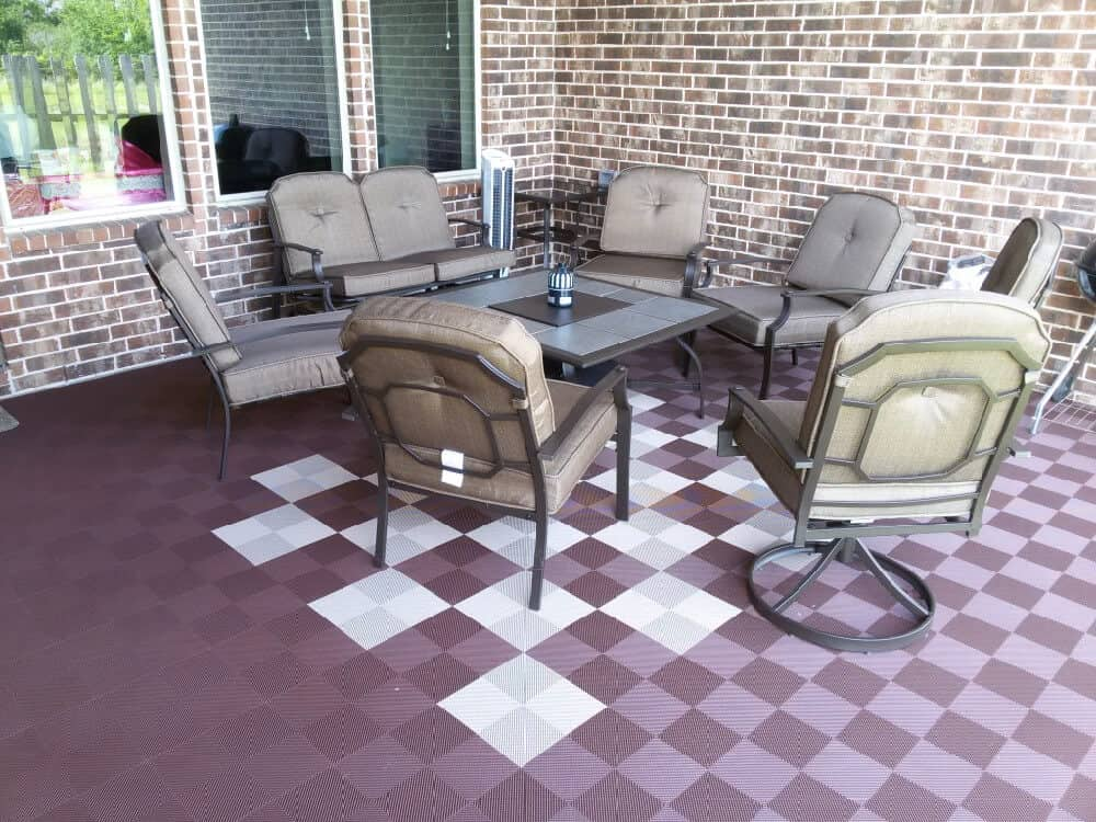 deck patio flooring brown beige ModuTile