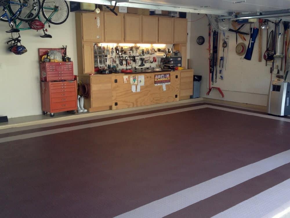 garage floor coin top beige brown