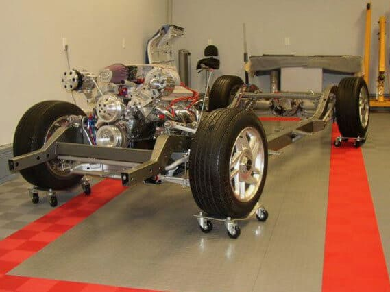 ModuTile Garage Floor Tile - Red/Gray