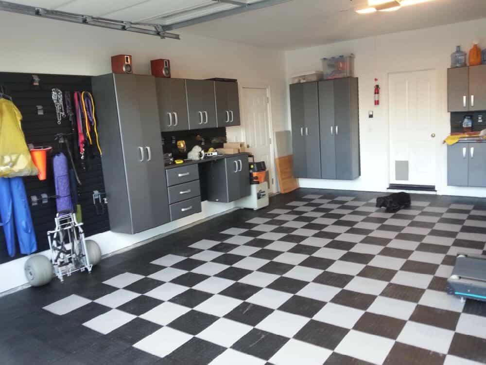 garage flooring residential black white