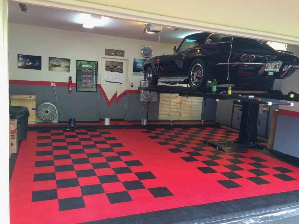 garage flooring with lift ModuTile