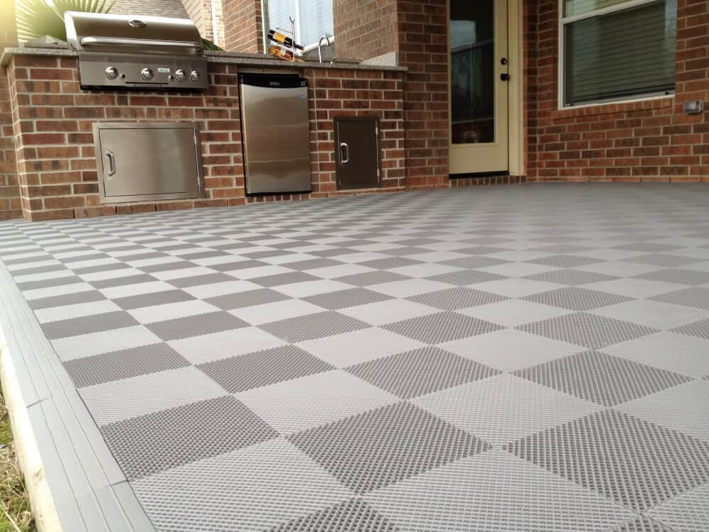 ModuTile Gray Perforated Deck and Patio Floor Tiles