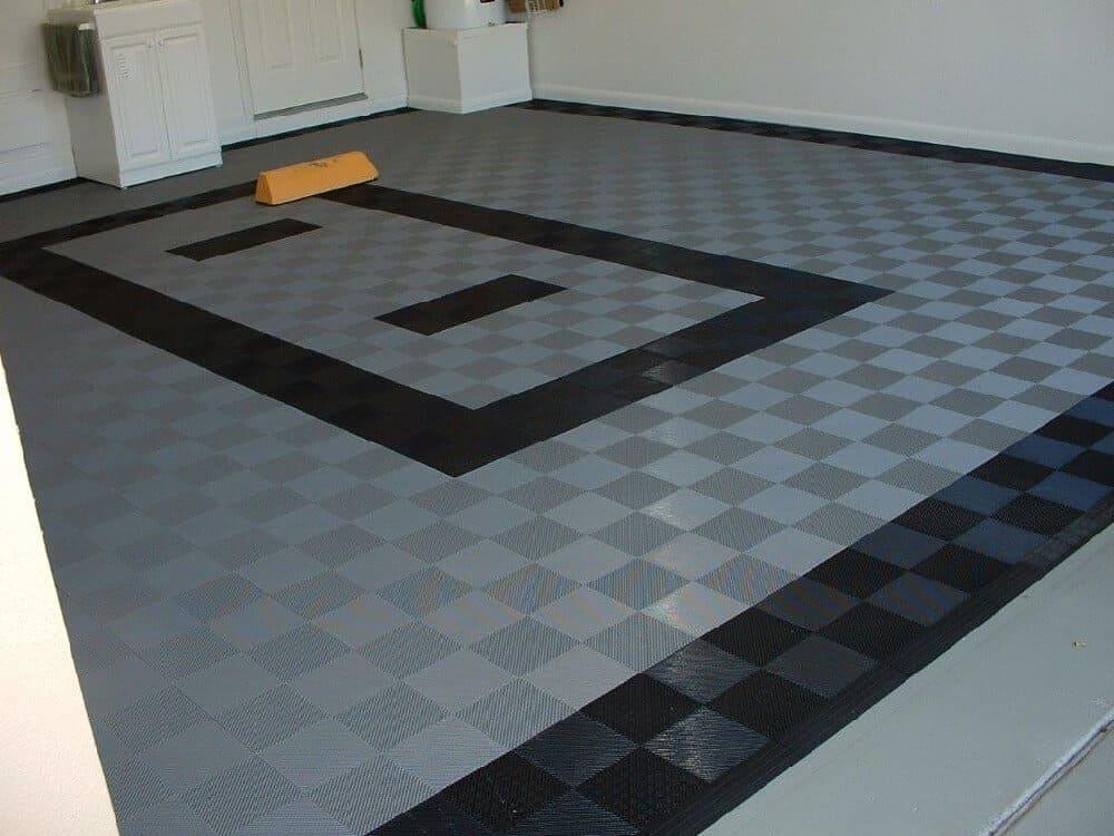 perforated garage floor black frame