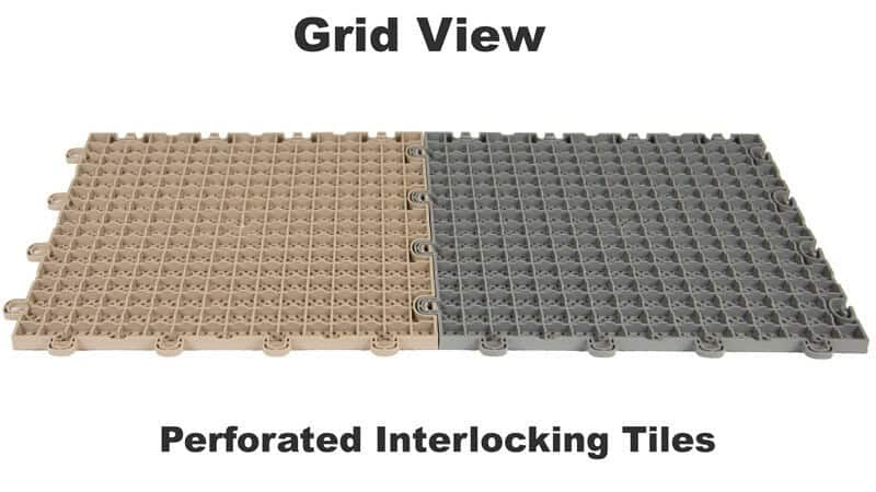 Perforated Interlocking Floor