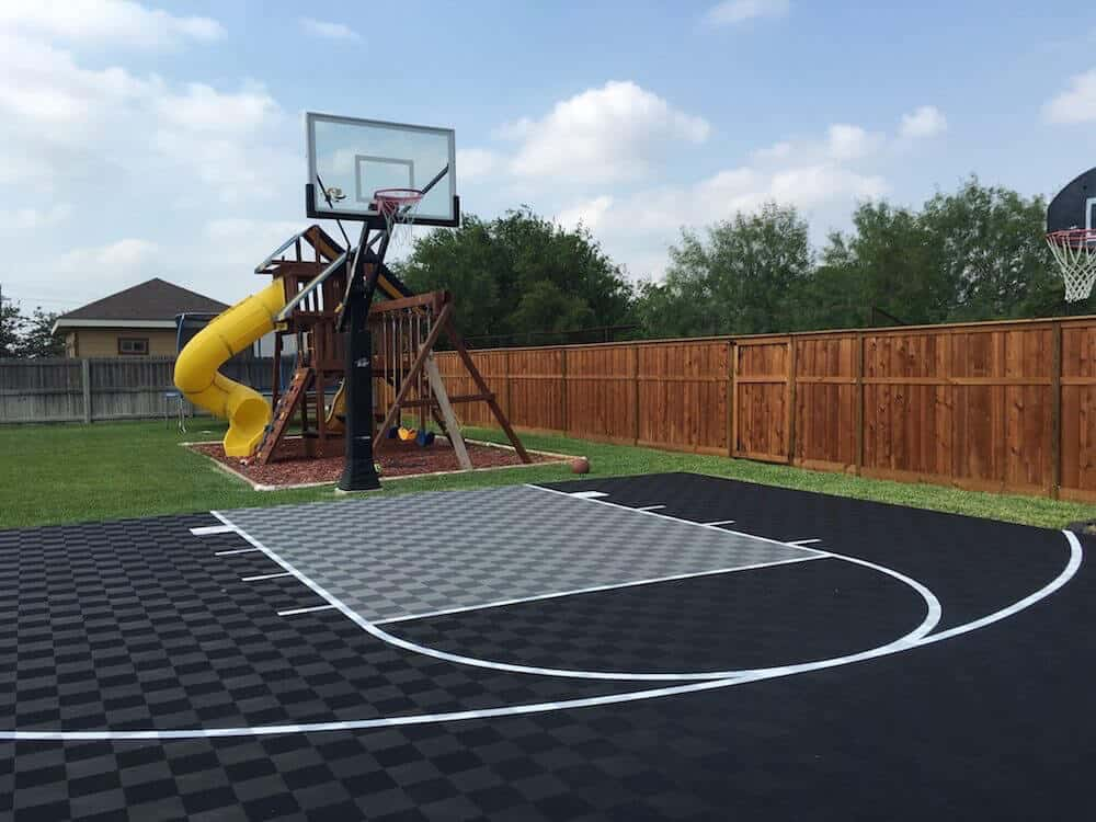 Outdoor Backyard Basketball Court Texas ModuTile