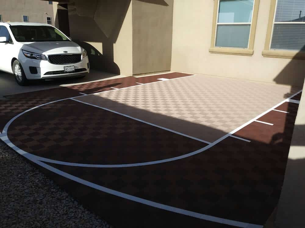 DIY Outdoor Basketball Court Floor ModuTile 20x24