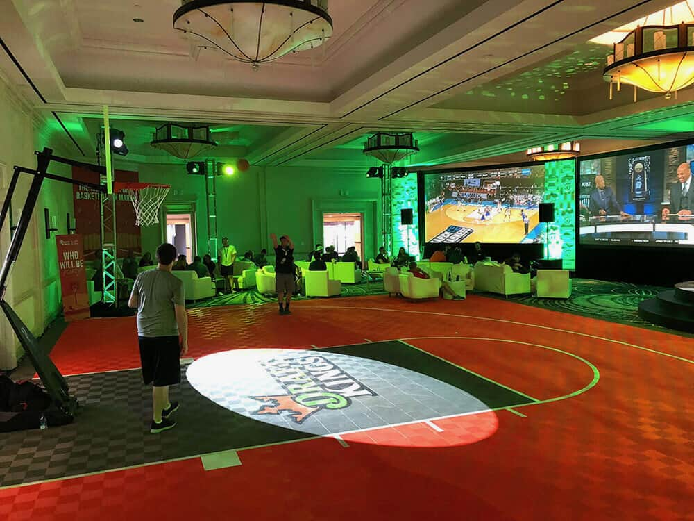 Draft King floor graphics Indoor Basketball Court Floor ModuTile