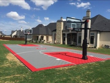 ModuTile full court basketball floor - backyard