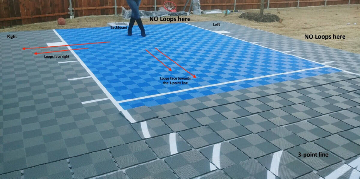 How To Install Backyard Basketball Court Tiles - Improper Orientation