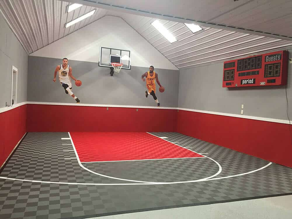 Indoor Basketball Court Flooring ModuTile