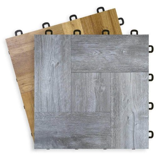 Interlocking Floor Tiles Wood - Vinyl top T7US Fan View
