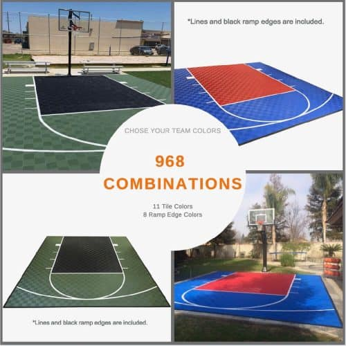 Modutile Sport Tile Court Flooring Color Option